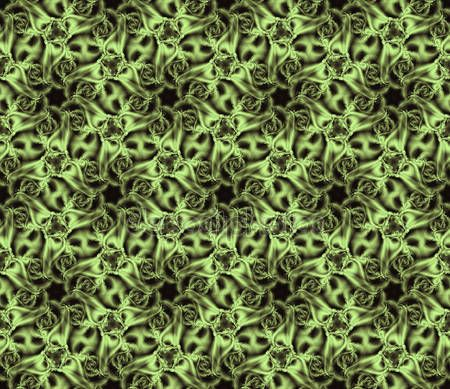 Download - The abstract curling seamless pattern, green — Stock Image #126364798