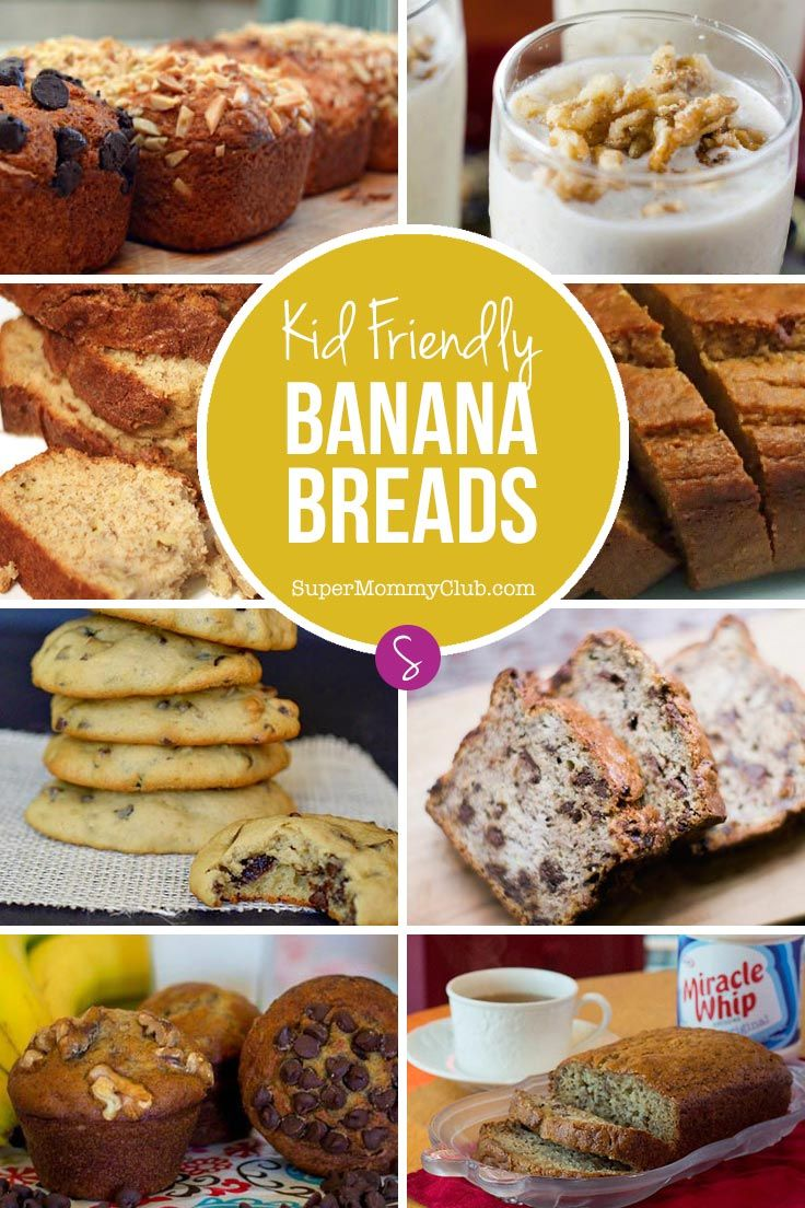 Turn overripe bananas into yummy banana bread treats for your family with these simple banana bread recipes. Don't miss the cookies and the milkshake!