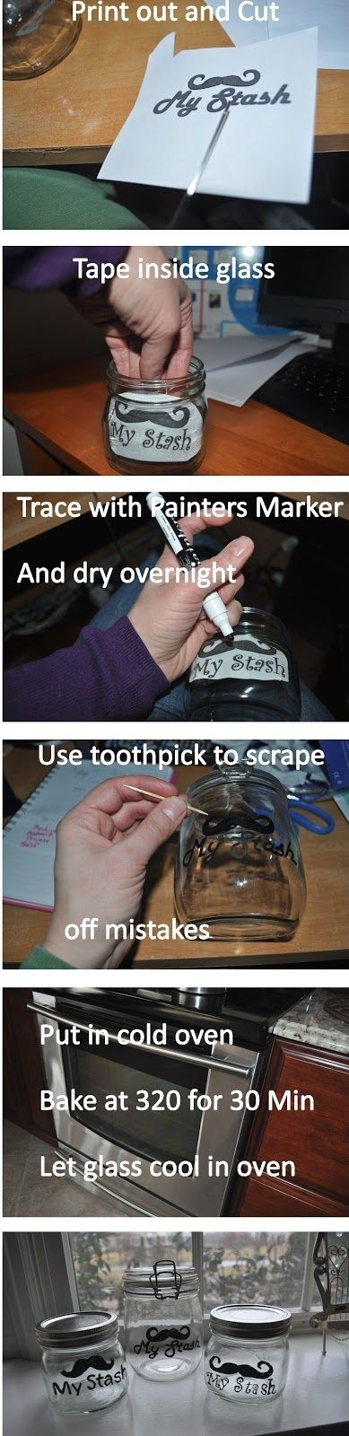 Holy crap I've been trying to figure out how to do this all day and of course there is a how to on Pinterest! So Easy!!! Take any printable you want and make a jar label!