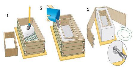 pflanztr ge aus steinguss selbst gebaut garten brunnen pinterest sch ne g rten. Black Bedroom Furniture Sets. Home Design Ideas