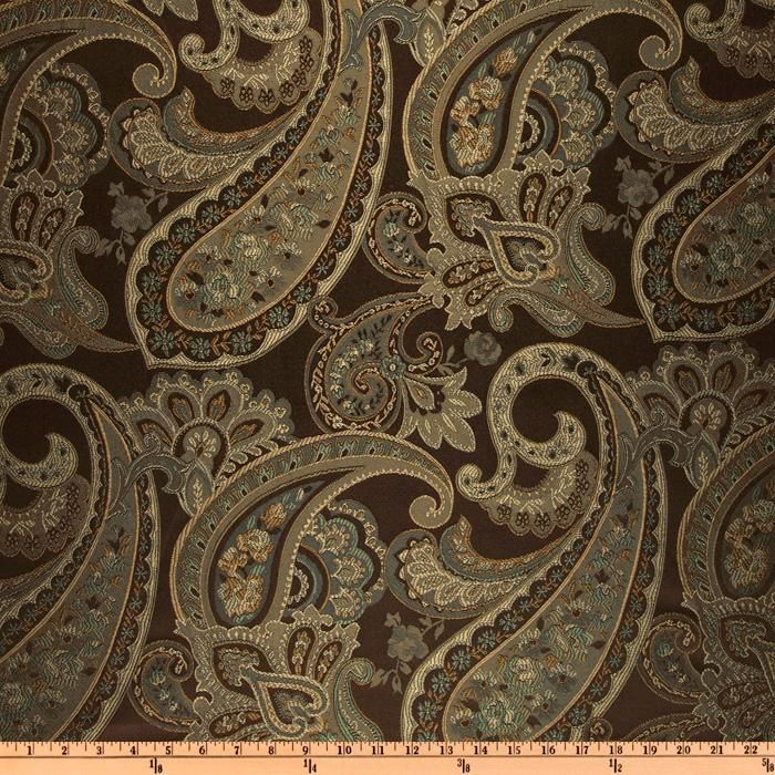Eroica Candytuft Paisley Jacquard Cocoa Mocha Tossed