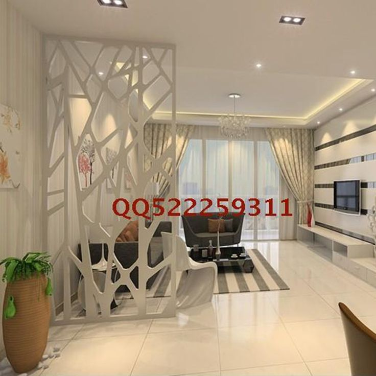Modern branch hollow partition door up mdf engraved plate - Separation salon salle a manger ...