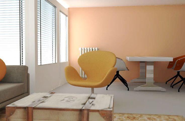 interieuradvies woonkamer leeuwarden appartement zithoek eethoek keuken friesland by Via Lin1