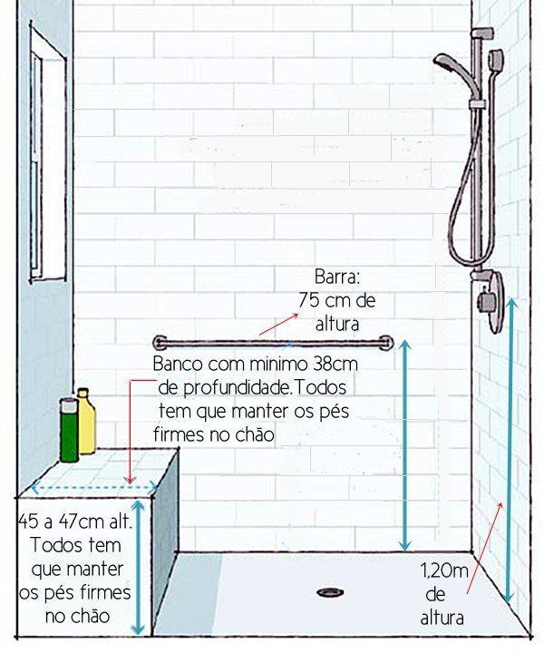 Resultado De Imagem Para Medida Banco Para Banheiro Projetos