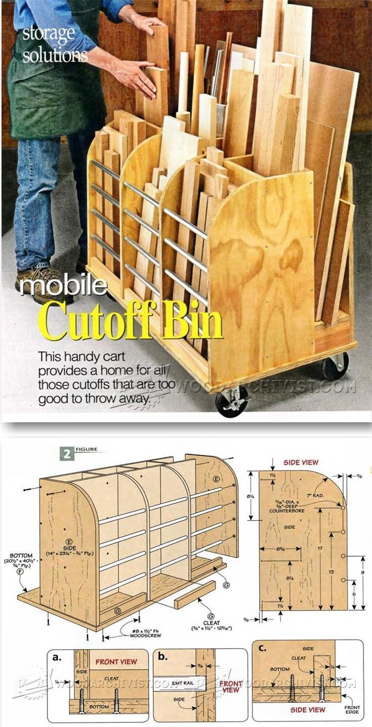 Mobile Cutoff Bin - Workshop Solutions Projects, Tips and Tricks   WoodArchivist.com