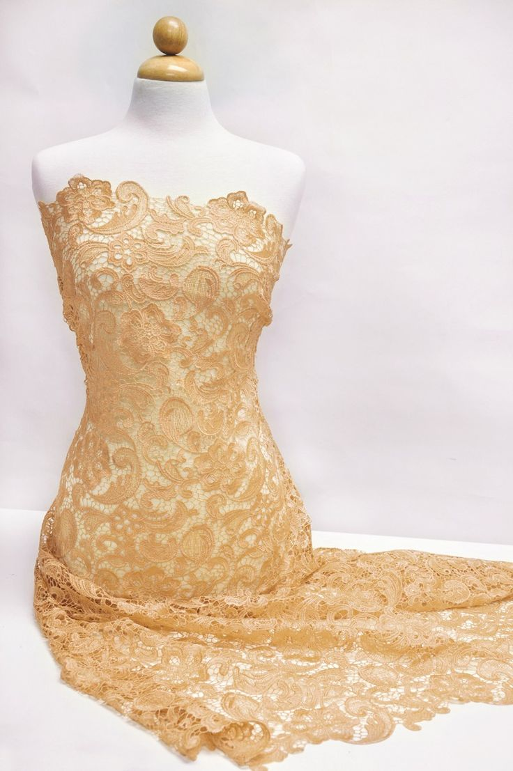 187 best nina images on pinterest mood fabrics fashion fabric venice embroidered sand lace fabric for wedding lace bridal elegant dress fabric ombrellifo Gallery