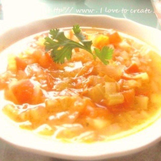 朝の健康☆免疫力を高める野菜スープin玄米ご飯