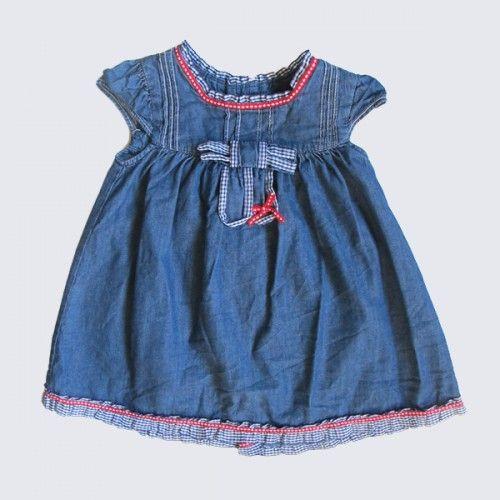 Vestido azul con lazo Mayoral