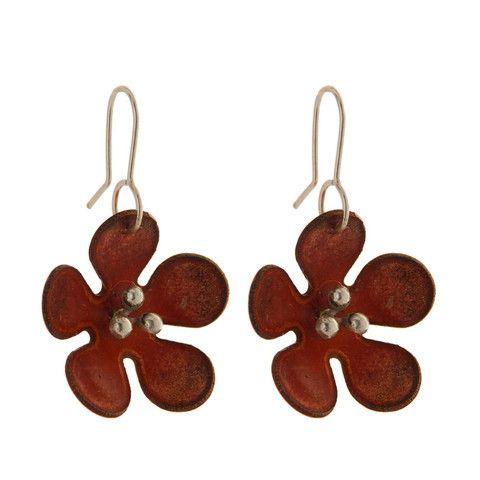The Paua Room - Copper Daisy Earrings, $89.00 (http://www.thepauaroom.com/copper-daisy-earrings/)