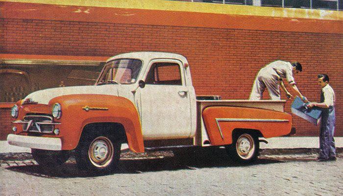 Modelo 3100, a primeira picape brasileira da Chevrolet.