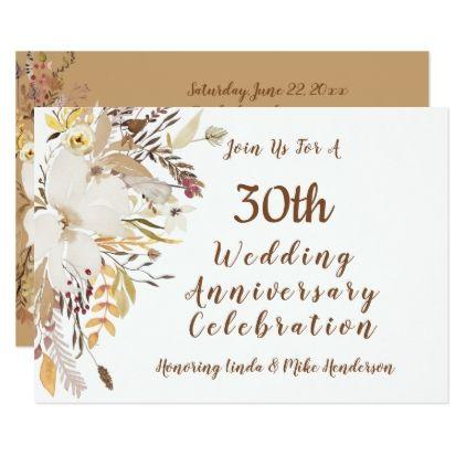 Anniversary Celebration Invitation -Soft Rustic - anniversary cyo diy gift idea presents party celebration