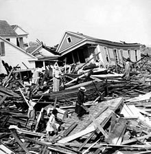 The Galveston Hurricane of September 8, 1900 was the deadliest hurricane in US history, killing between 8000 and 12,000 people.