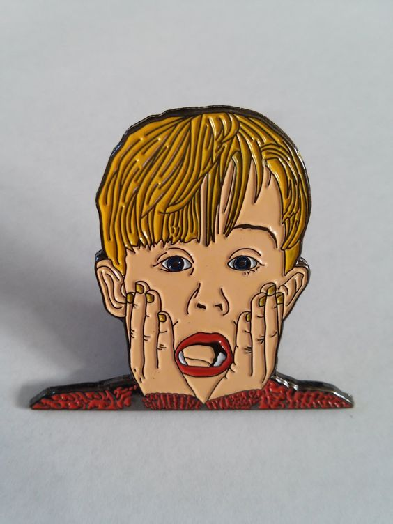Home Alone - Kevin Soft Enamel Lapel Pin by quasivisualarts on Etsy https://www.etsy.com/listing/247247392/home-alone-kevin-soft-enamel-lapel-pin