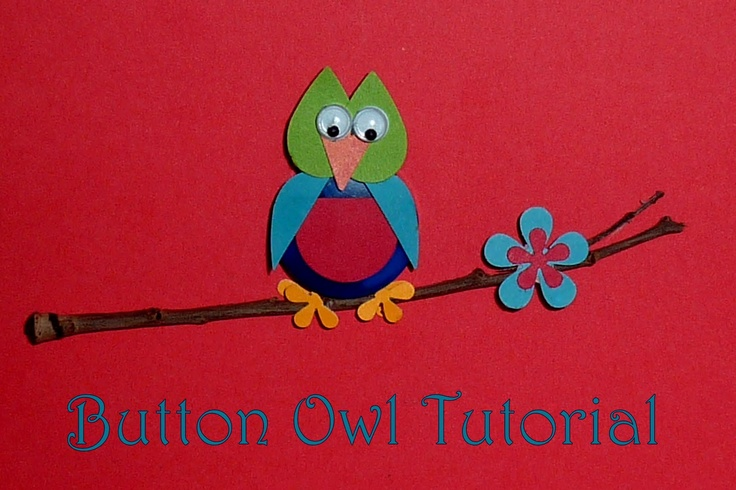 No time to be bored: Button Owl Tutorial