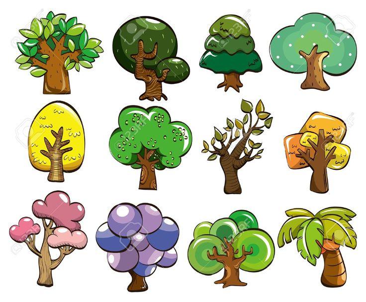 Arboles animados coloridos buscar con google rboles for Arbol con raices y frutos