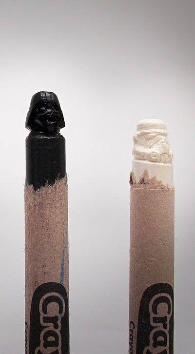 Dude Craft: Star Wars Character Crayon Carving