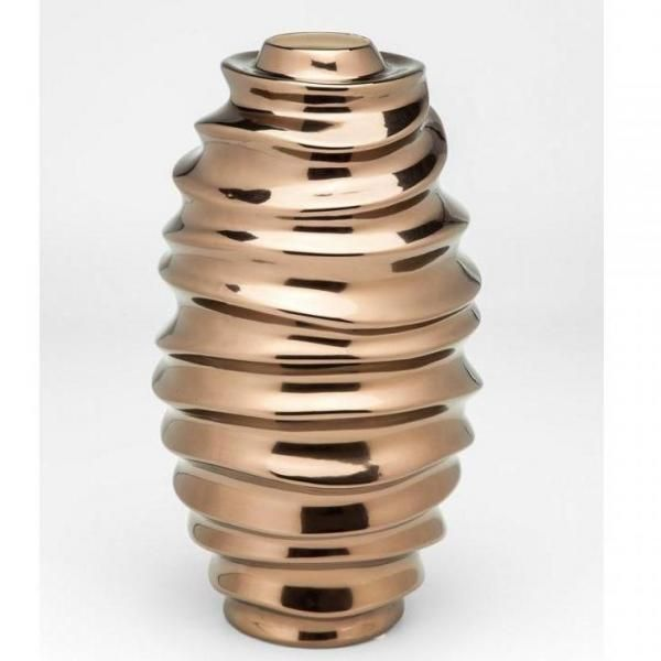 Váza Riffle Copper 45cm