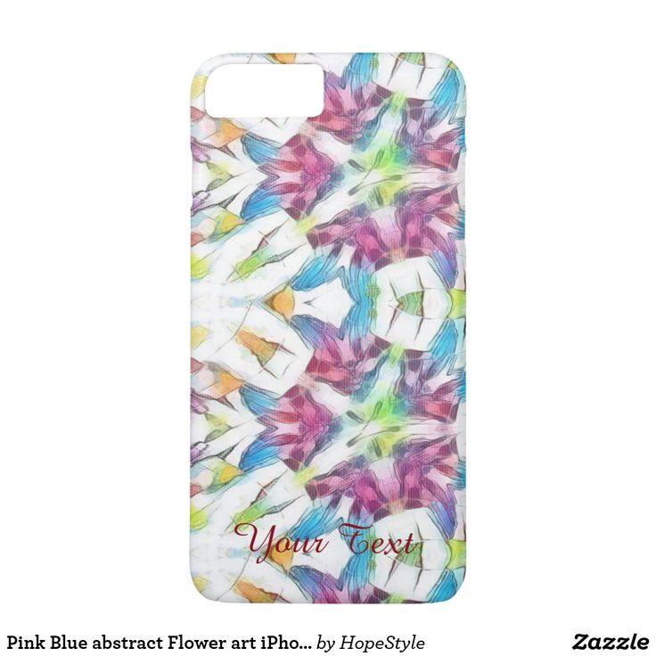 Caso cor-de-rosa do iPhone 7 da arte da flor do
