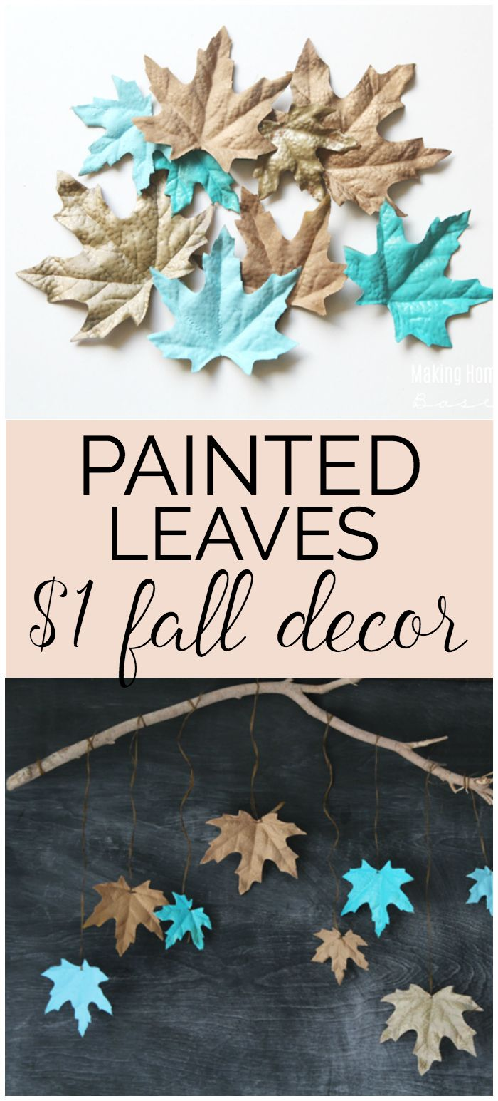 Spray painting leaves can really step up your fall decorating. Bring in some nontraditional colors and give your home a modern look for fall.