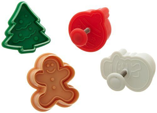 Ateco Christmas Plunger Cutters, Set of 4…