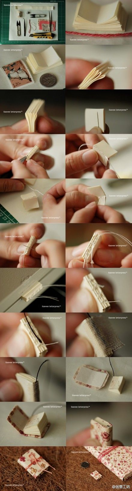 Bookbinding mini book; just in case you wanted to know.
