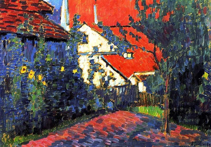 Red Roofs Alexei Jawlensky - circa 1907