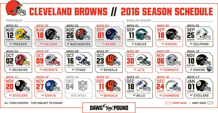 Cleveland Browns announce 2016 schedule https://www.fanprint.com/licenses/cleveland-browns?ref=5750