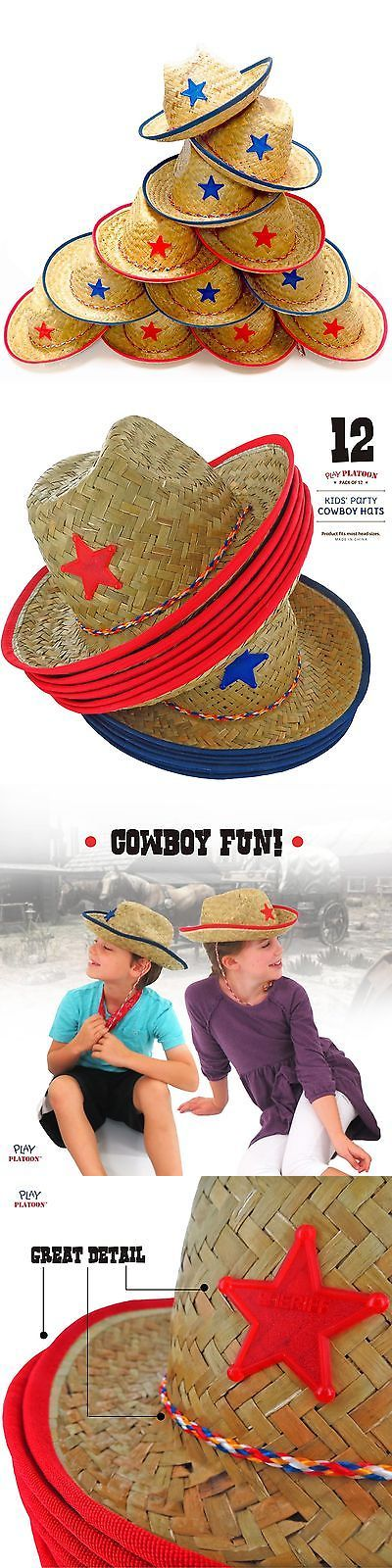 Attire 116101: Dozen Straw Cowboy Hats For Kids - Makes Great Birthday Party Hats For Boys A... -> BUY IT NOW ONLY: $300 on eBay!