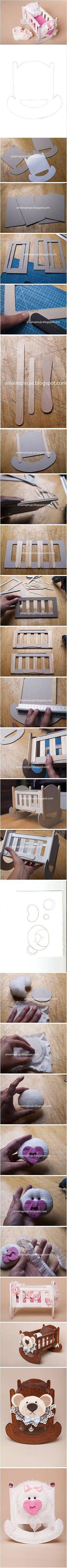 废物利用 手工 DIY Cardboard Baby Cradle