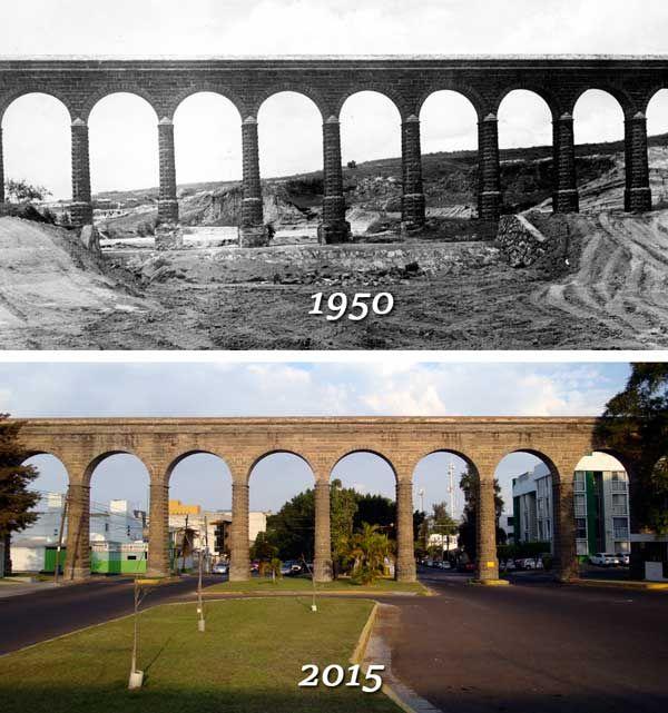 Acueducto de Guadalajara Guadalajara: Antes y Después