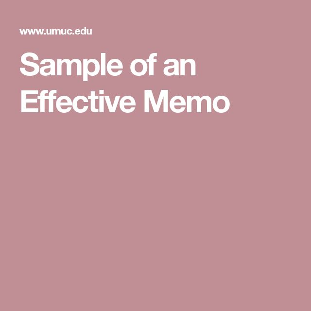 Sample of an Effective Memo Writing Pinterest - sample policy memo