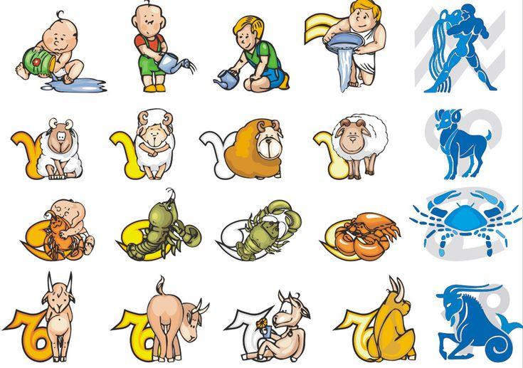 Клипарт векторный знаки зодиака. Все знаки зодиака.  Дева, Лев, Рак, Близнецы, Телец, Овен, Весы, Скорпион, Стрелец, Козерог, Водолей, Рыбы. Векторные изображения знаков зодиака в формате Corel Draw