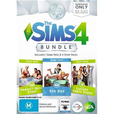 The Sims 4 Bundle (Spa Day, Perfect Patio, Luxury Party)
