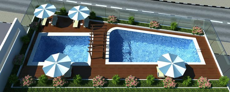 Arial View Of Pool @ the Project #EarthVillament