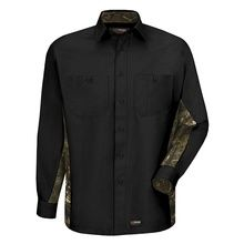 Wrangler Men's Camo Work Shirt - Long Sleeve | Red Kap Automotive workwear and uniforms at the best discount price! Get work clothes, work pants, jackets, and coveralls. Try our 120% best price guarantee.
