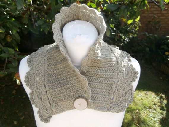 Eco-Friendly Recycled Cotton Neck Warmer with by StrangelyMagical
