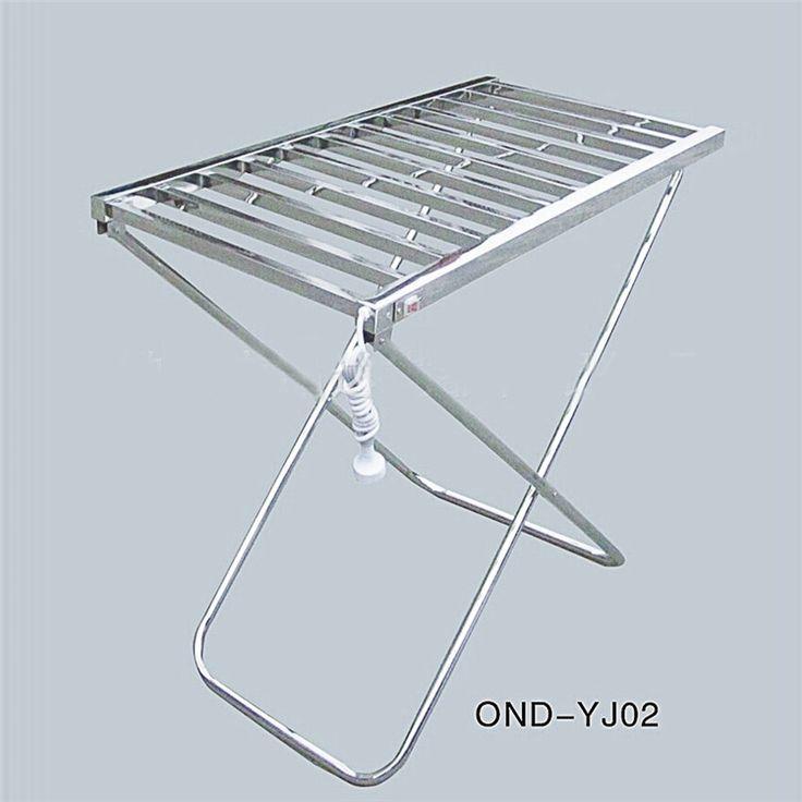 自立式タオルウォーマー タオルヒーター タオルハンガー+簡易乾燥 #201ステンレス鋼 クロム 100W