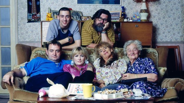 Aherne starred alongside a cast including Ralf Little, Ricky Tomlinson, co-writer Craig Cash, Liz Smith and Sue Johnston in The Royle Family