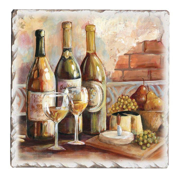 Amazon.com | CounterArt Tumbled Tile Tuscan Pinot Coasters, Set of 4: Tuscan Kitchen: Coasters