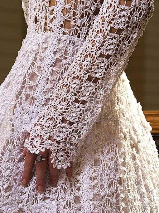 Dresses, Vintage Crochet Wedding Dresses