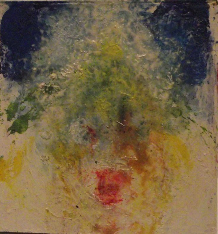 Christmas Tree .  oil on card .  Philip Weaver
