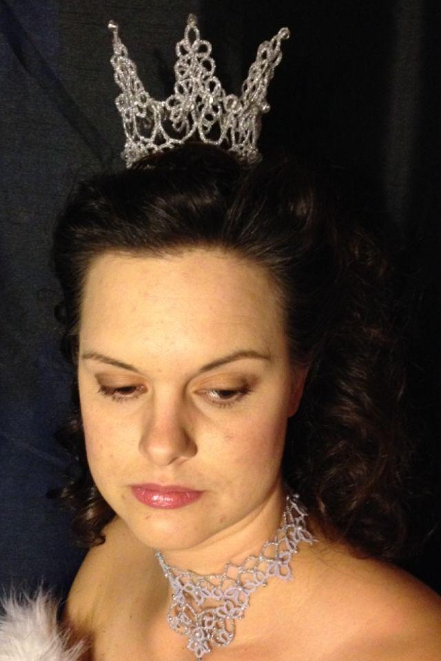 Silver crown.