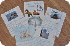Carte d'identité des animaux de l'arctique...