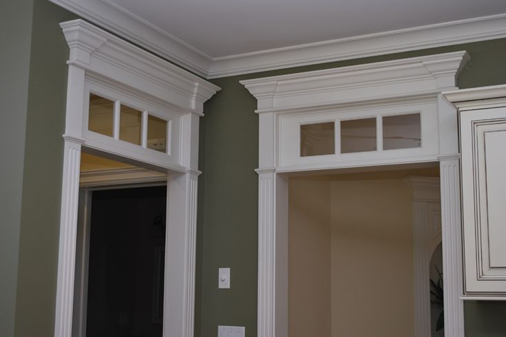 Fluted Trim Boards ~ Door transom wainscoting america s pediment head and
