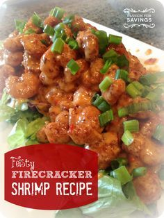 Yummy Firecracker shrimp recipe! - to make gluten free, make your own breaded shrimp or look for a gluten free version of popcorn shrimp...I might even try it without any breading!