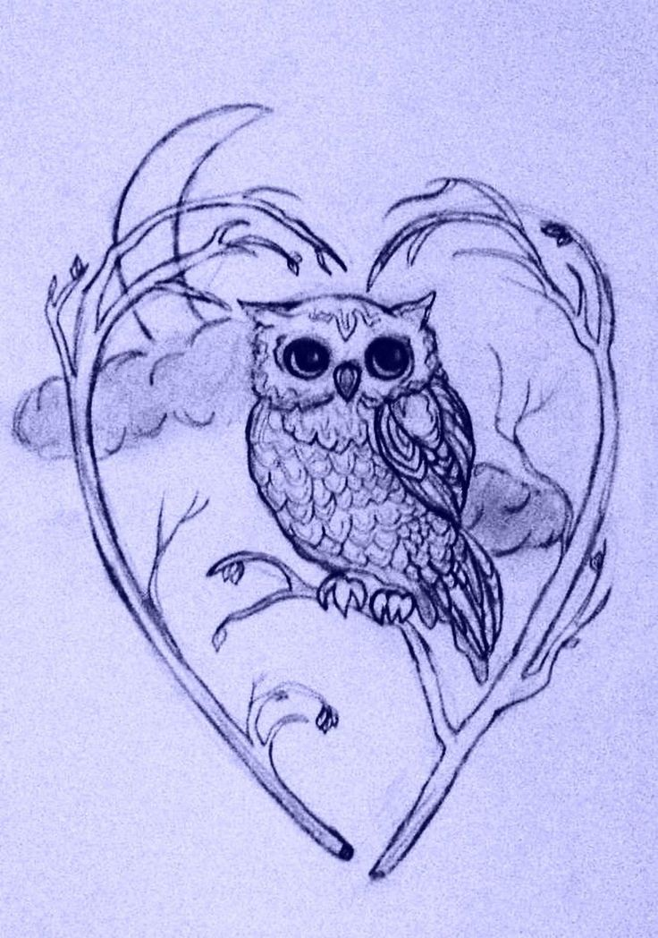 owl tattoo design id want a full moon with a snowbarn