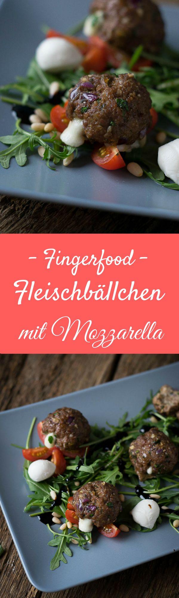 Hackfleischbällchen mit geschmolzenem Mozzarella - super lecker