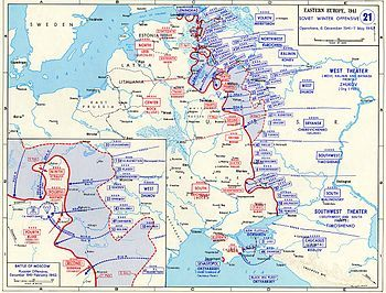 Battle of Moscow - The Soviet winter counter-offensive, 5 December 1941 – 7 May 1942-The Red Army had accumulated a 58-division reserve by early December, when the offensive proposed by Zhukov and Vasilevsky was finally approved by Stalin.