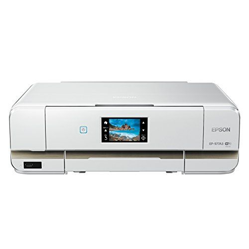 ♥♥♥ Wanted! ♥♥♥ EPSON インクジェット複合機 Colorio EP-977A3 無線 有線 スマートフォンプリント Wi-Fi Direct A3 、CDラベル印刷、自動両面印刷、スマホ印刷対応、w=497mmと小型。現在使用中のキャノン製A3プリンターの買い換え候補の1つ 。22,898円