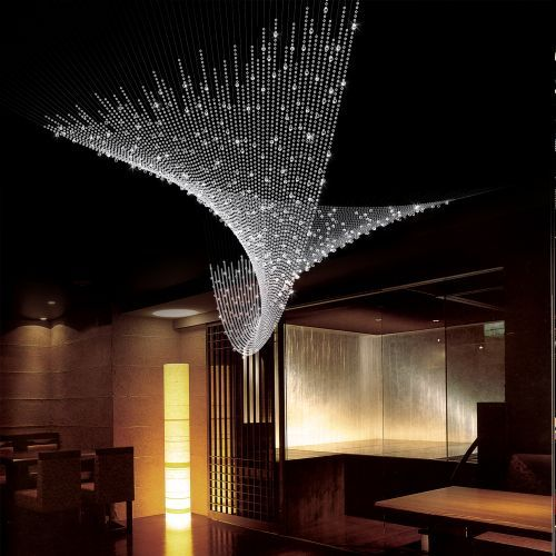 Yellow Goat Design: Manufacturer that designs AMAZING light fixtures! This  elegant twist is a combination of long crystal strands.each is built and  weighted ...